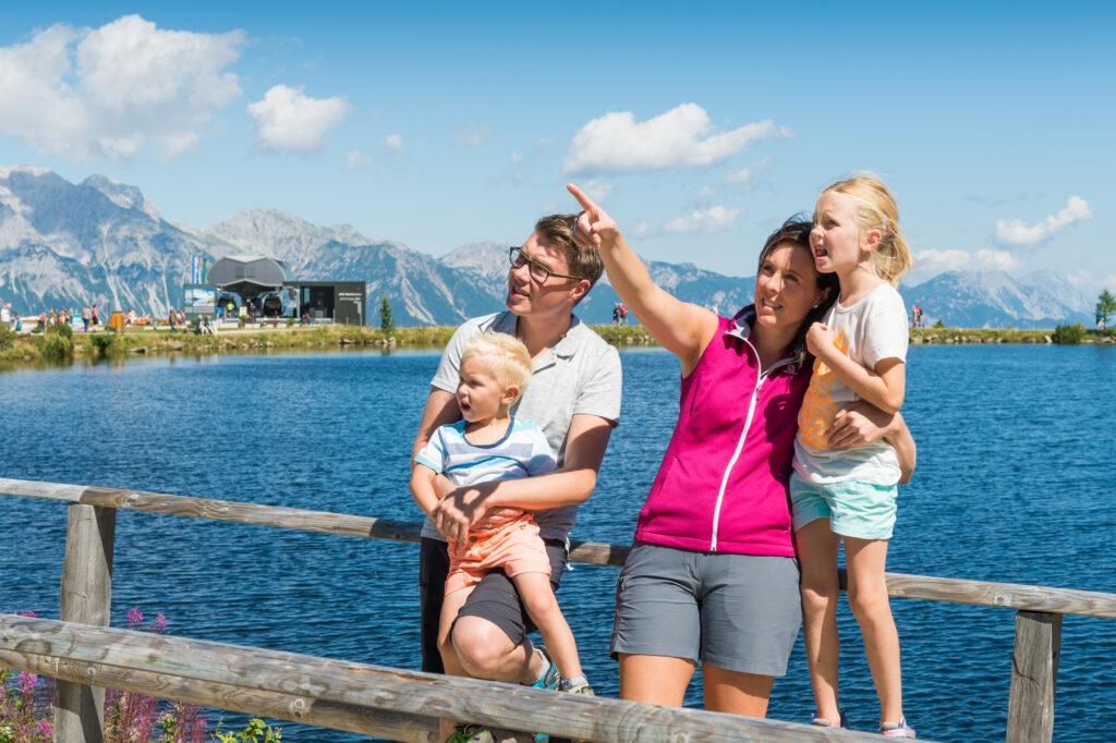 Familienausflug im Sommer
