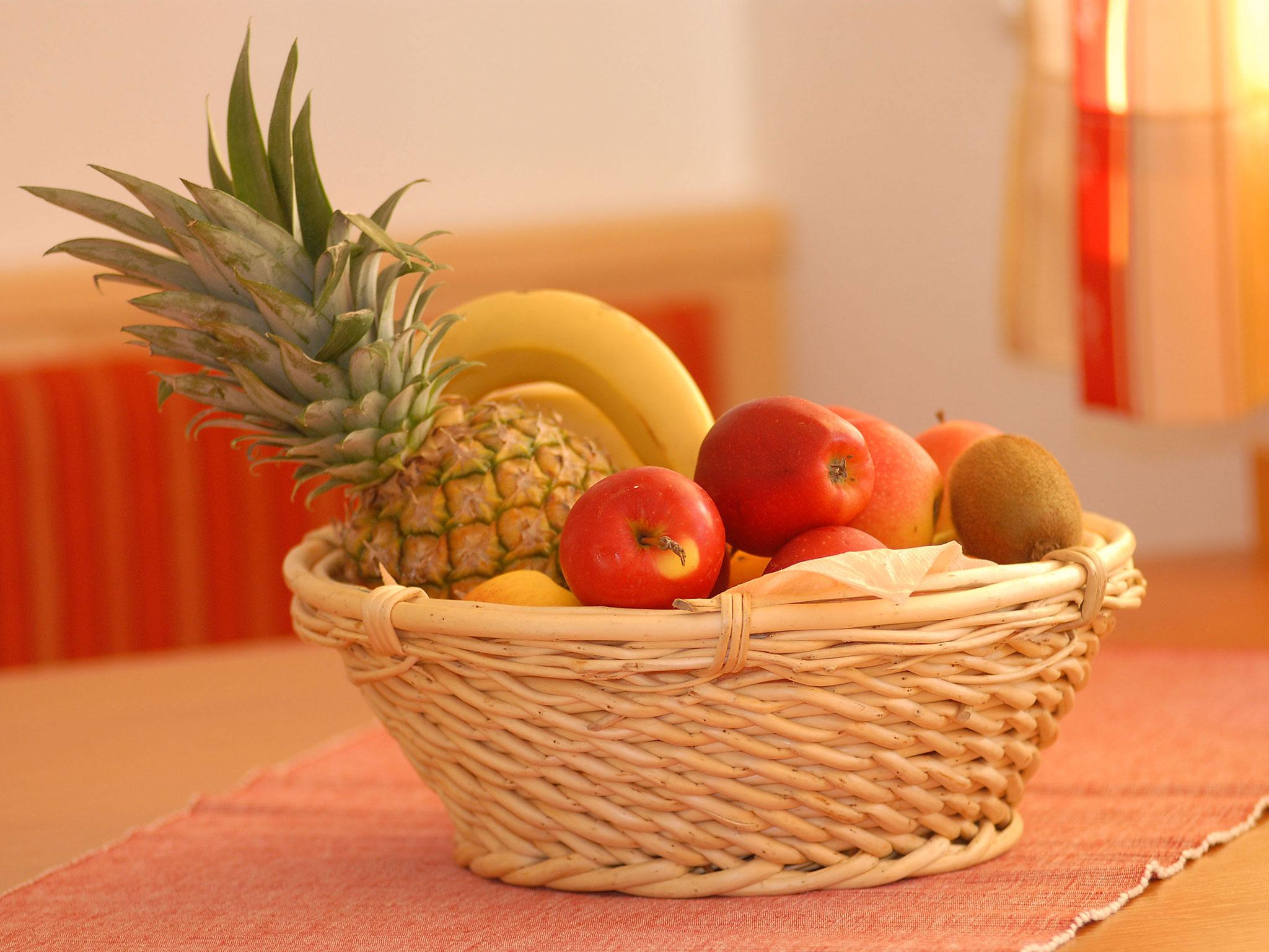 Detailaufnahme Obstkorb